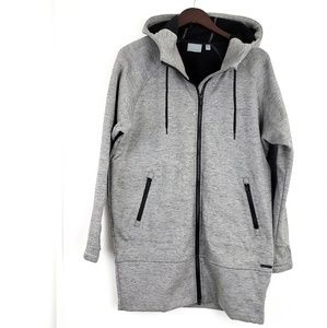 NWOT Athleta Full Zip Hooded Sweater Gray Small